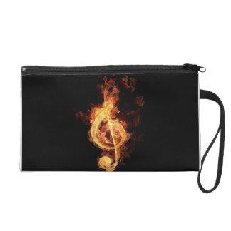 music fire wristlet purse