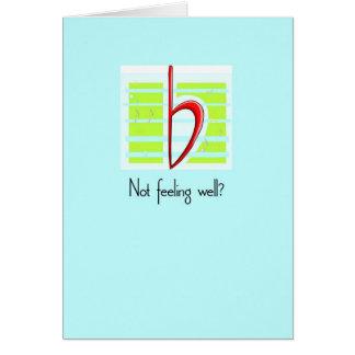Music Flat, Get Well, Blue Greeting Card