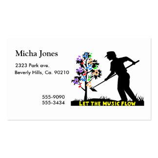 Music Flow Gardener Business Card Templates