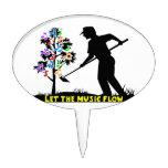 Music Flow Gardener Cake Topper