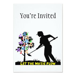 Music Flow Gardener 5x7 Paper Invitation Card