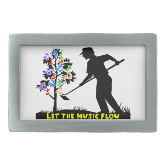 Music Flow Gardener Rectangular Belt Buckle