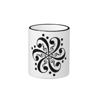 Music Flower Coffee Mugs