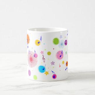 Music (flowers & dots 1) classic white coffee mug