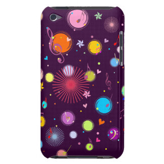 Music (flowers,hearts & dots 1) Case-Mate iPod touch case