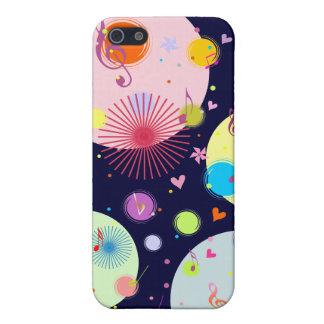 Music (flowers,hearts & dots 3) case for iPhone SE/5/5s