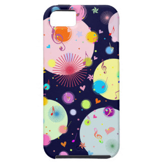 Music (flowers,hearts & dots 3) iPhone SE/5/5s case