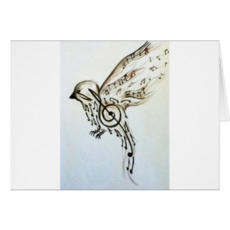 Music flys greeting cards