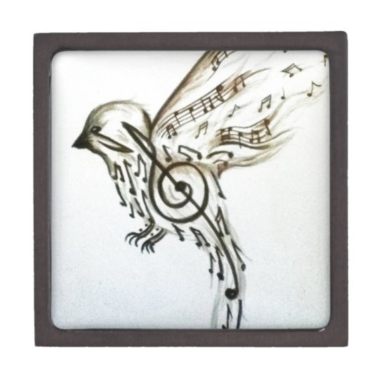 Music flys jewelry box