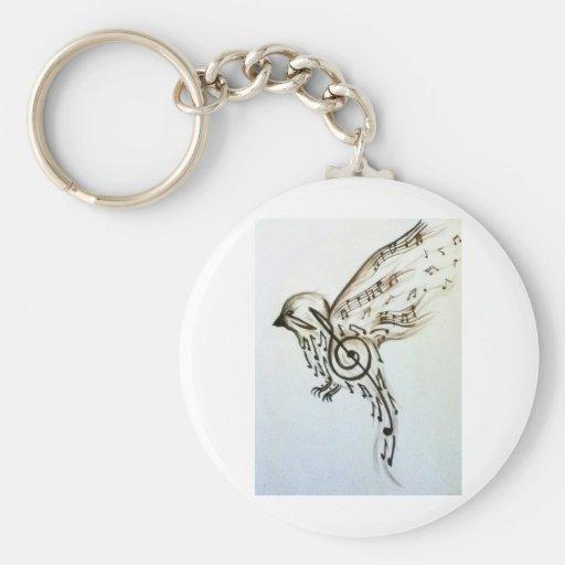 Music flys keychain