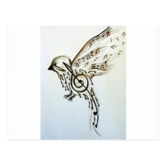Music flys post card