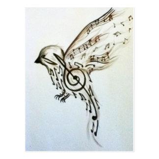 Music flys postcard