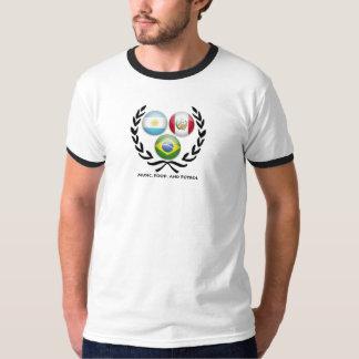 Music, Food, and Futbol v. 2 T-Shirt