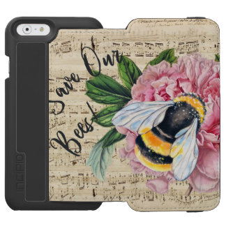 Music For Bees Pink Peony iPhone 6/6s Wallet Case