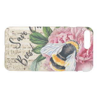 Music For Bees Pink Peony iPhone 8 Plus/7 Plus Case
