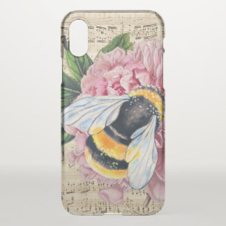 Music For Bees Pink Peony iPhone X Case