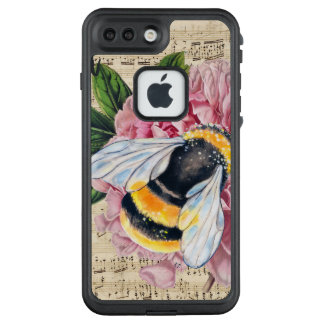 Music For Bees Pink Peony LifeProof FRĒ iPhone 7 Plus Case