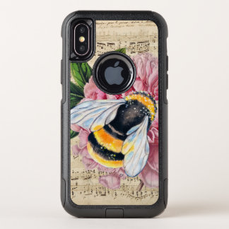 Music For Bees Pink Peony OtterBox Commuter iPhone X Case
