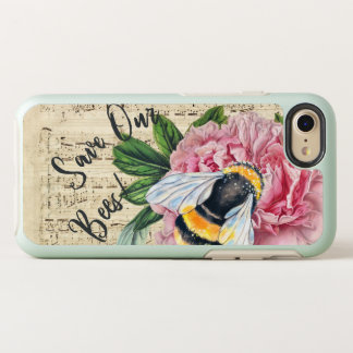 Music For Bees Pink Peony OtterBox Symmetry iPhone 8/7 Case