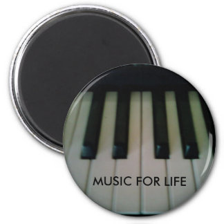 MUSIC FOR LIFE 2 INCH ROUND MAGNET