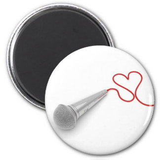 Music for love 2 inch round magnet
