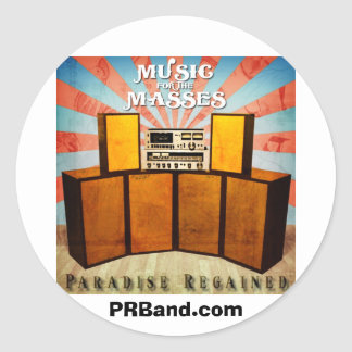 Music for the Masses Album Cover PRBand.com Classic Round Sticker