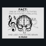 "Music for the Mind Poster<br><div class=""desc"">Music is good for the soul</div>"