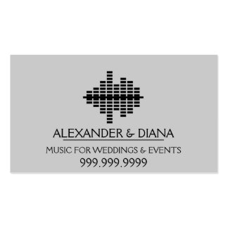 MUSIC FOR WEDDINGS AND EVENTS BUSINESS CARD