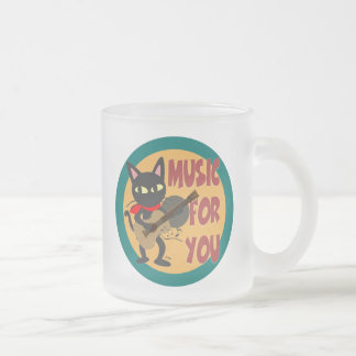 Music for you 10 oz frosted glass coffee mug