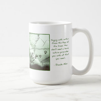 Music from the Treetops [by Doodle Max] Classic White Coffee Mug