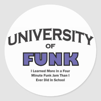 music-funk classic round sticker