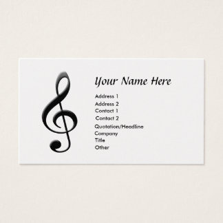 Music G-Clef Business Card