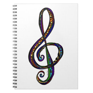 Music G Clef Photo Notebook (80 Pages B&W)
