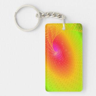 Music galaxy Double-Sided rectangular acrylic keychain
