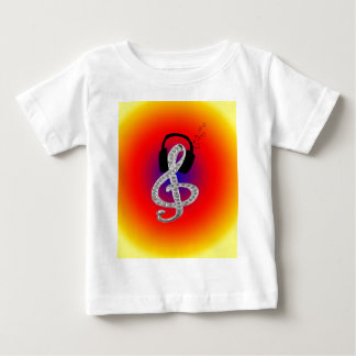 Music Gclef with headset Baby T-Shirt