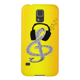 Music Gclef with headset Galaxy S5 Cover