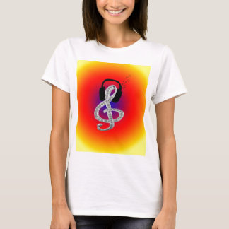 Music Gclef with headset T-Shirt