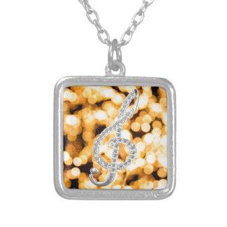 Music Gclef with light bakcground Jewelry
