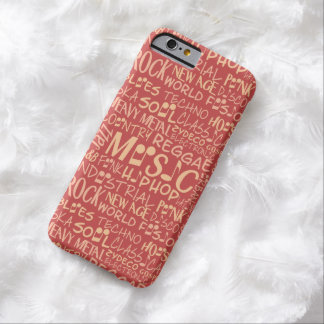 Music Genres Word Collage cases Barely There iPhone 6 Case
