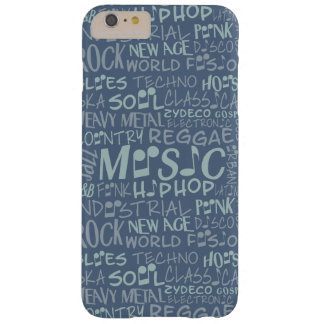 Music Genres Word Collage cases Barely There iPhone 6 Plus Case