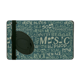 Music Genres Word Collage cases iPad Case
