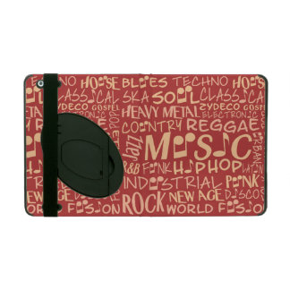 Music Genres Word Collage cases iPad Folio Cases