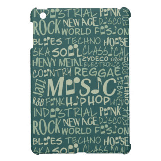 Music Genres Word Collage cases iPad Mini Cover