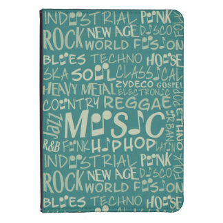 Music Genres Word Collage cases Kindle Cover