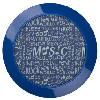 Music Genres Word Collage charger