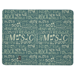 Music Genres Word Collage pocket journal