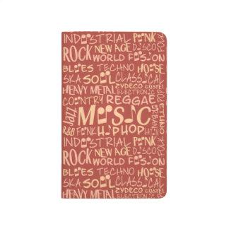 Music Genres Word Collage pocket journal