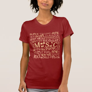 Music Genres Word Collage shirts & jackets