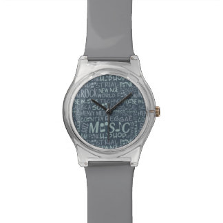 Music Genres Word Collage watches