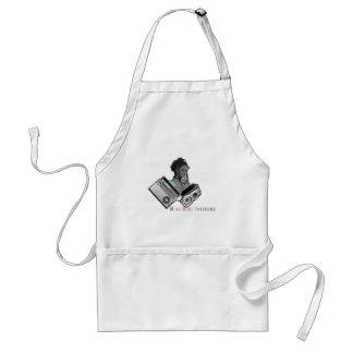 music girl adult apron